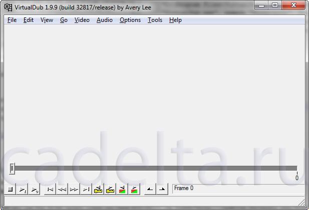 Рис. 1. Интерфейс программы VirtualDub
