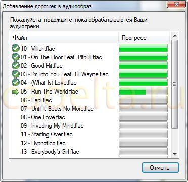 Рис. 12. Кодирование аудиофайлов.